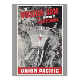 Boulder Dam, Hoover Dam, America Postcard