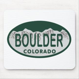 Boulder license oval mouse pads