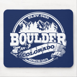 Boulder Old Circle Blue Mouse Pad