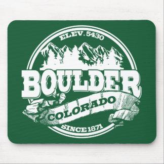 Boulder Old Circle Green Mousepad