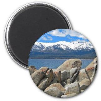Boulder Shore Lake Tahoe Fridge Magnets