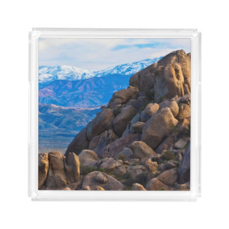 Boulders and Mountains Acrylic Tray