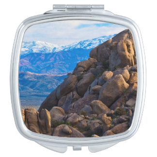 Boulders and Mountains Travel Mirror