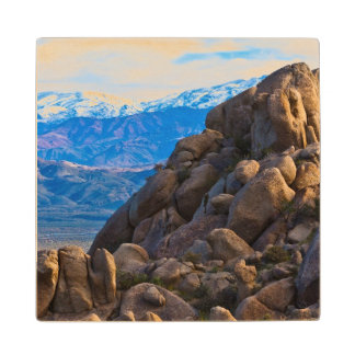 Boulders and Mountains Wood Coaster