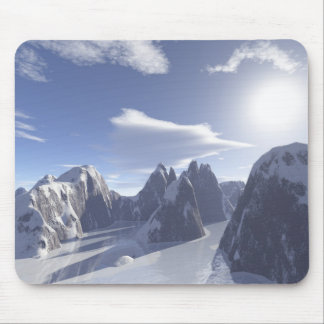 boulders (frozen river) mouse mat