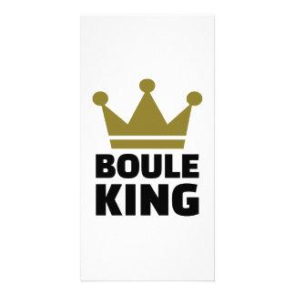 Boule king champion photo card template