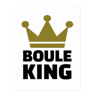 Boule king champion post card