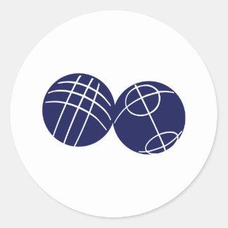 Boule petanque classic round sticker