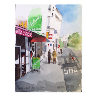 Boulecard de Clichy postcard