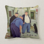 Boules Players Cushion