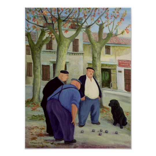 Boules Players Poster