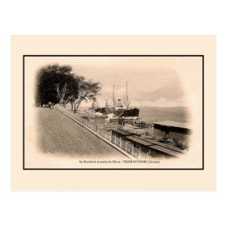 Boulevard and harbour Trois Rivieres QC Canada Postcard