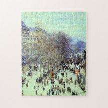 Boulevard de Capucines Monet Fine Art Jigsaw Puzzle