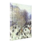Boulevard de Capucines Wrapped Canvas Stretched Canvas Print