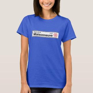 Boulevard de Maisonneuve, Montreal Street Sign T-Shirt