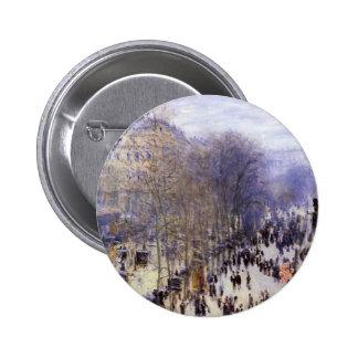Boulevard des Capucines by Claude Monet, Fine Art 6 Cm Round Badge
