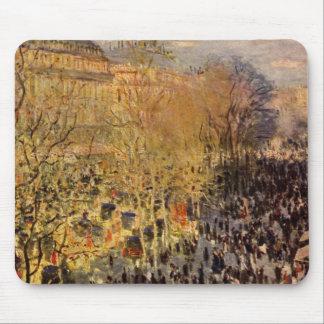 Boulevard des Capucines by Claude Monet, Fine Art Mouse Pad