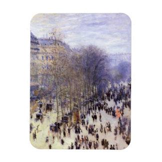 Boulevard des Capucines by Claude Monet, Fine Art Rectangular Photo Magnet