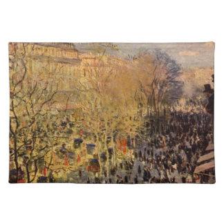 Boulevard des Capucines by Claude Monet Place Mat