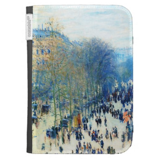 Boulevard des Capucines Claude Monet fine art Kindle Keyboard Cases