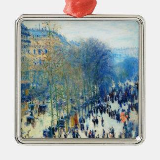 Boulevard des Capucines Claude Monet fine art Christmas Tree Ornaments