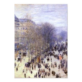 """Boulevard des Capucines, Monet, Vintage Fine Art 5"""" X 7"""" Invitation Card"""