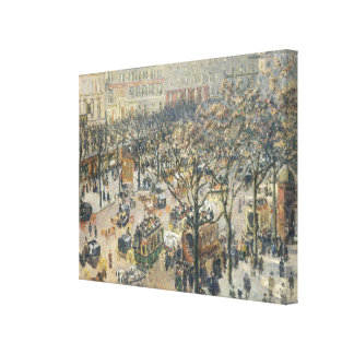 Boulevard des Italiens, Morning, Sunlight, 1897 Canvas Print