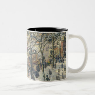 Boulevard des Italiens, Morning, Sunlight, 1897 Two-Tone Coffee Mug