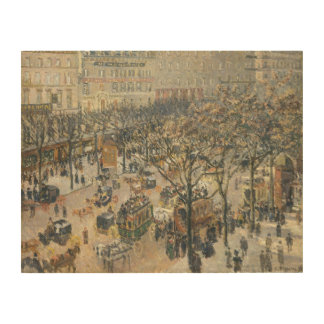 Boulevard des Italiens, Morning, Sunlight, 1897 Wood Print