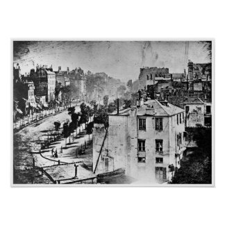 Boulevard du Temple Paris France 1838 Poster