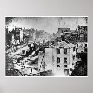 Boulevard du Temple Paris France 1838 Print
