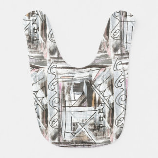 Boulevard-Hand Painted Abstract Brushstrokes Bibs