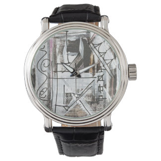 Boulevard-Hand Painted Abstract Brushstrokes Wrist Watches