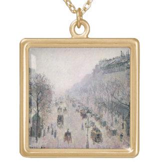 Boulevard Montmartre, 1897 (oil on canvas) Necklaces