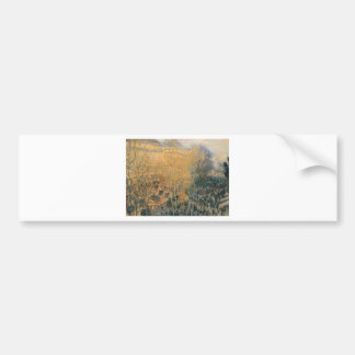 Boulevard of Capucines by Claude Monet Bumper Sticker