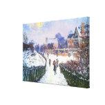 Boulevard Saint Denis Argenteuil by Claude Monet Canvas Print
