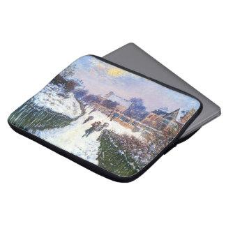 Boulevard Saint Denis Argenteuil by Claude Monet Laptop Sleeve