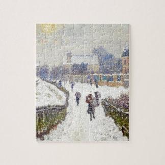 Boulevard Saint-Denis, Argenteuil, in Winter Puzzle
