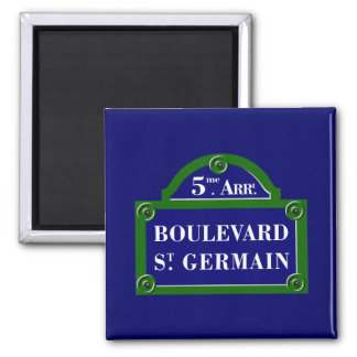 Boulevard Saint-Germain, Paris Street Sign Magnet