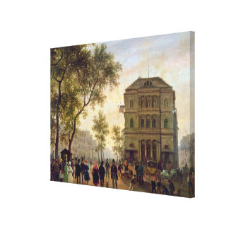 Boulevard Saint-Martin and the Theatre de Canvas Print