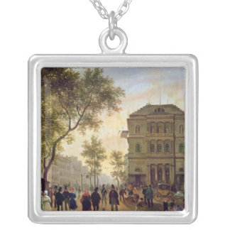 Boulevard Saint-Martin and the Theatre de Silver Plated Necklace