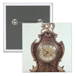 Boulle bracket clock by A.Brocot Delettrez 15 Cm Square Badge
