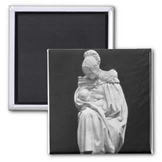Boulonnaise Woman Feeding her Child Square Magnet