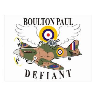 boulton paul defiant postcard