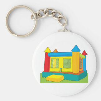 Bounce Castle Basic Round Button Key Ring