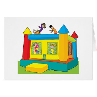 Bounce Castle Kids Greeting Card