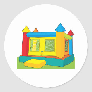 Bounce Castle Round Sticker