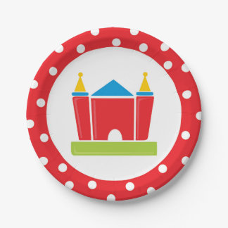 Bounce House Birthday Party Paper Plate