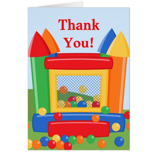 Bounce House Birthday Thank You Card