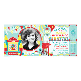 Bounce House Carnival Birthday Card